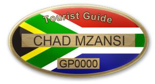 Tourist Guide Registration badge
